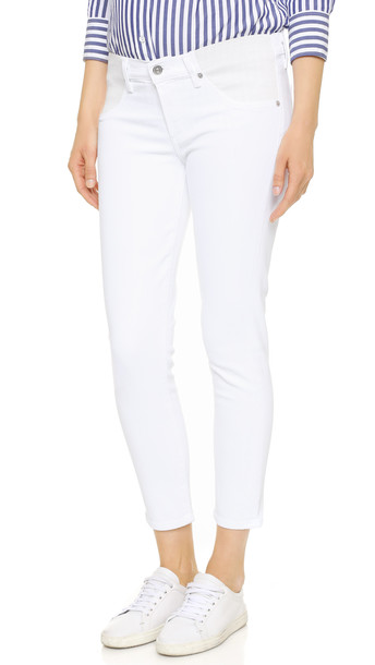 Citizens Of Humanity Avedon Below The Belly Ultra Ankle Skinny Jeans - Optic White