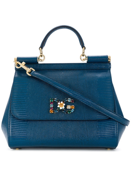Dolce & Gabbana women bag leather blue