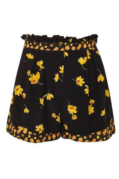 Topshop shorts floral black