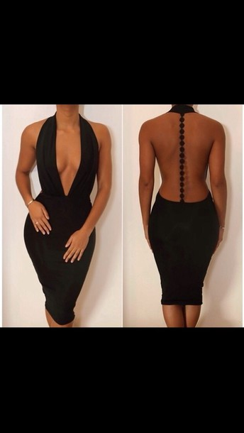 dress little black dress black open back