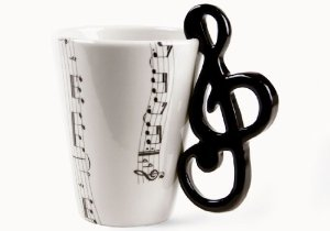 Treble Clef Handmade Coffee Mug (10cm x 8cm): Amazon.co.uk: Kitchen & Home