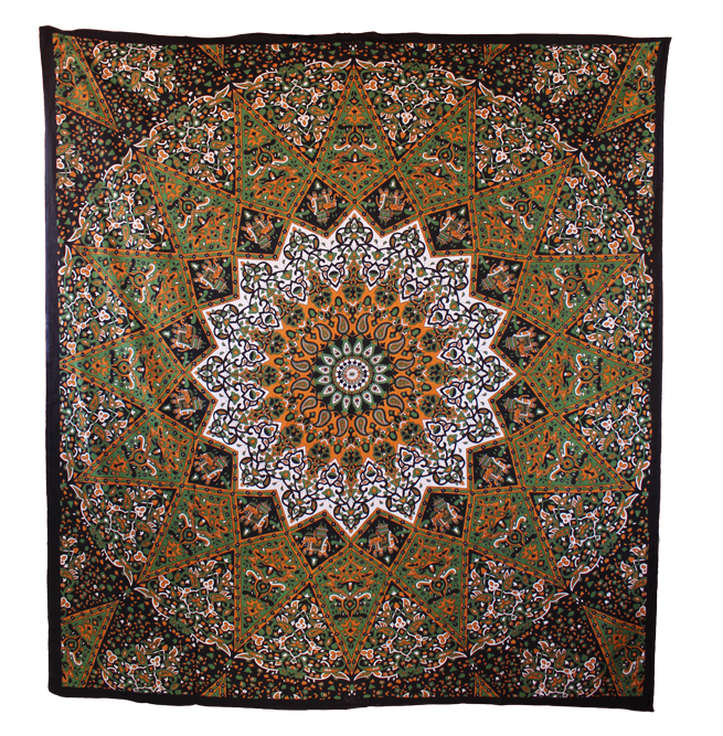 Twin Size Black and White Star Tapestry - Handicrunch.com