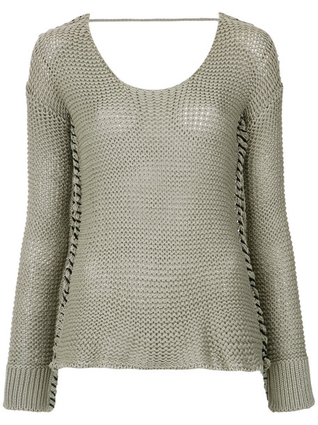 top women knit green