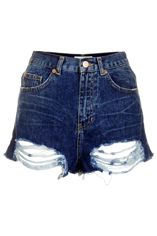 MOTO Mom Shorts in Distressed-Optik - Denim-Shorts - Shorts - Bekleidung