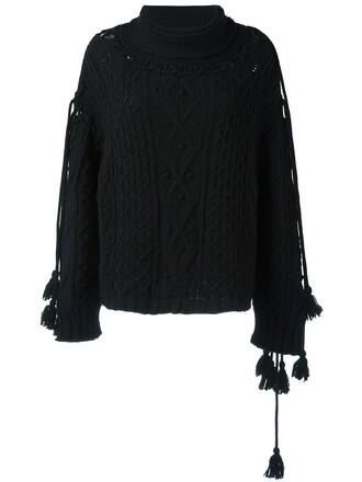 poncho black top