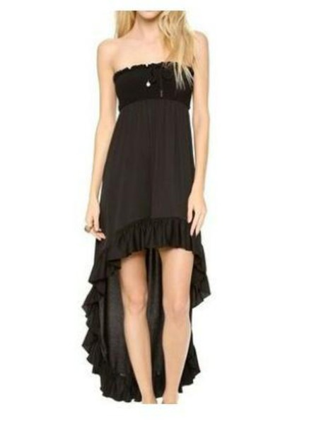dress high low dress strapless dress juicy couture