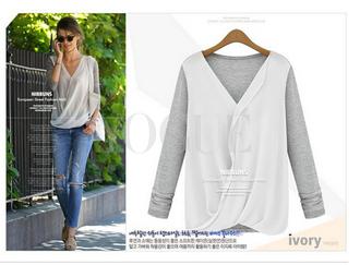 shirt cozy long sleeves womens shirt chiffon deep v neck blouse chiffon blouse sex and the city sexy blouse