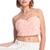 ROMWE | ROMWE Faux Roses Embellished Pink Bandeau, The Latest Street Fashion