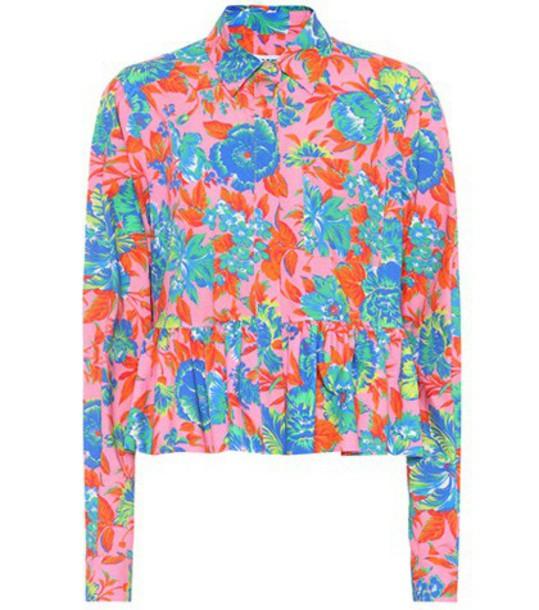 MSGM top floral cotton