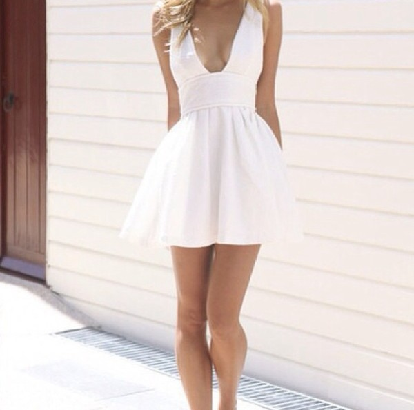 dress white dress simple dress
