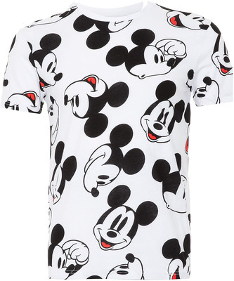 TOPMAN White Mickey Mouse Face T-Shirt - Polyvore