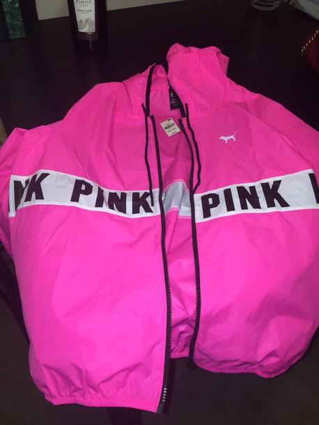 Jacket: pink by victorias secret - Wheretoget