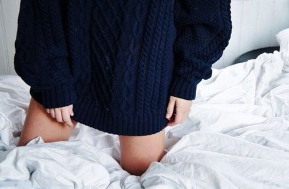 navy blue blue sweater dark jumper oversized oversized sweater tumblr