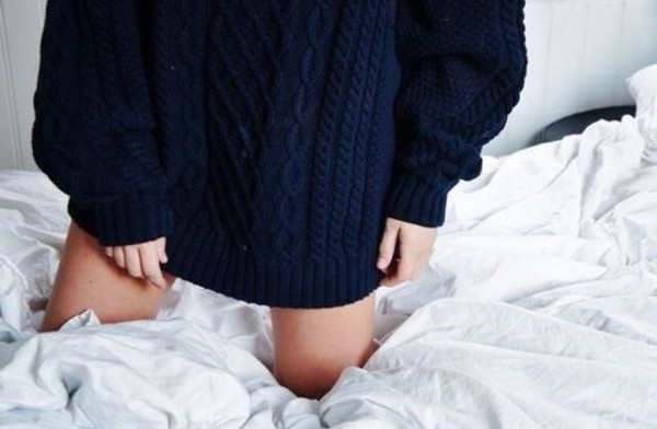 sweater blue navy dark jumper oversized oversized sweater tumblr