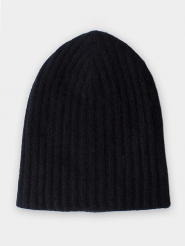 Cashmere luxe rib hat