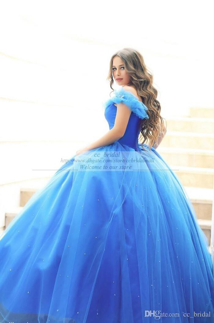 Short Wedding Dresses New Charming Royal Blue Princess Cinderella ...