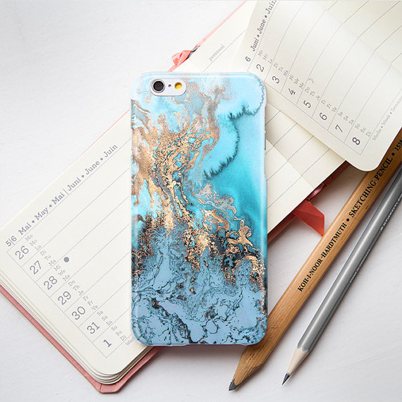 factory authentic ad019 81dbd Blue Gold Marble iPhone 6 Case iPhone 5S Case iPhone 5 Case Marble iPhone  5C Case Marble iPhone 4 Case Golden Marble Phone Case
