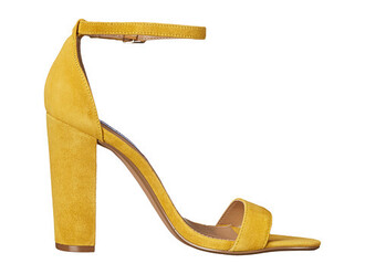 shoes yellow shoes sexy shoes thick heel high heel sandals