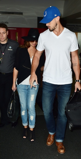 jeans lea michele shoes black sandals