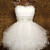 White Sweetheart Ball Gown Short Prom Dresses, Homecoming Dresses - 24prom