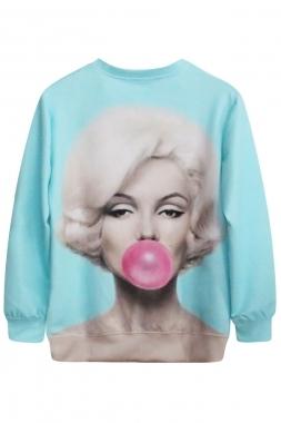 Marilyn monroe print sweatshirt