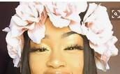 hair accessory,light pink,flowers,flower crown,crown,pink,flower headband