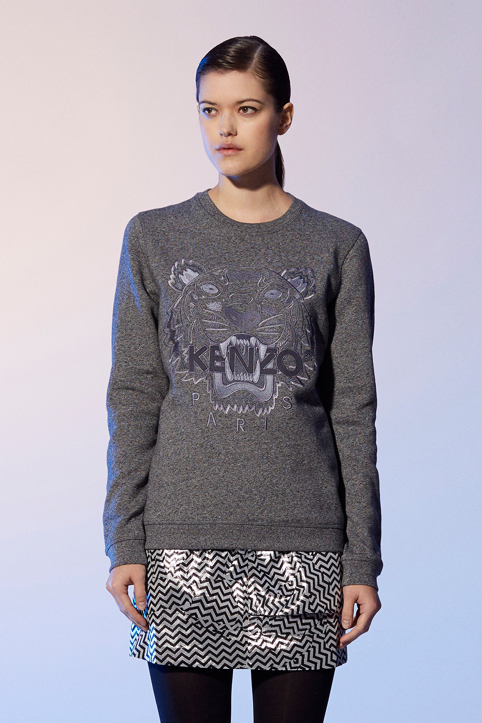 sweat shirt tiger kenzo sweat shirts pulls kenzo femme e shop kenzo. Black Bedroom Furniture Sets. Home Design Ideas