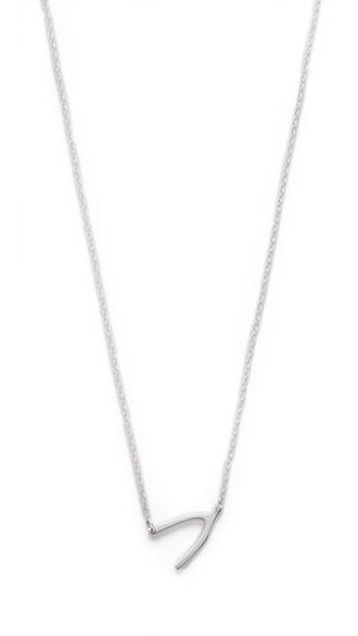 mini wishbone necklace silver jewels