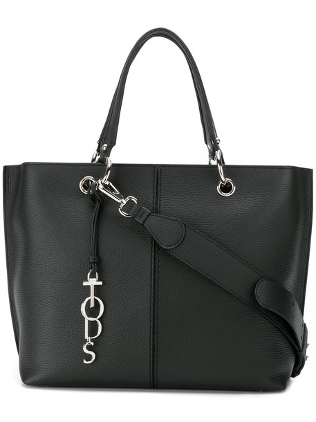 TOD'S women bag tote bag leather black