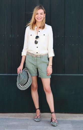 cocos tea party blogger shirt shorts hat shoes bag sunglasses