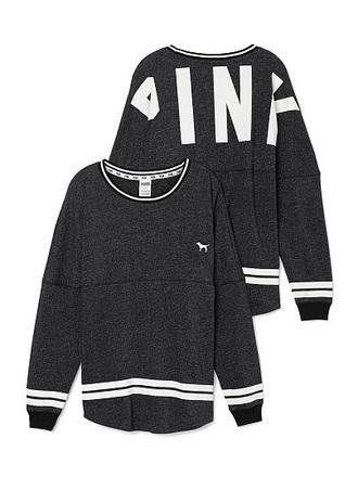 sweater grey pink by victorias secret