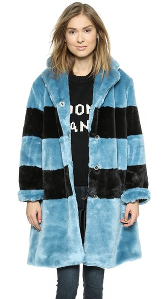 Marc by marc jacobs airglow faux fur coat