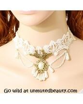 jewels,vintage,halloween,sweet,pretty,cool,punk,rock,fashion,style,lace choker,vintage choker,choker necklace