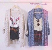 sweater,shirt,shorts,knitted cardigan,blouse,white,floral,vans,summer,spring,hot,cute,cut off shorts,blue,pink,flowers,perfect,pastel,warm,jealous,california top,chill,High waisted shorts,loose,bold,indie,cardigan,outfit,beige,top,jacket
