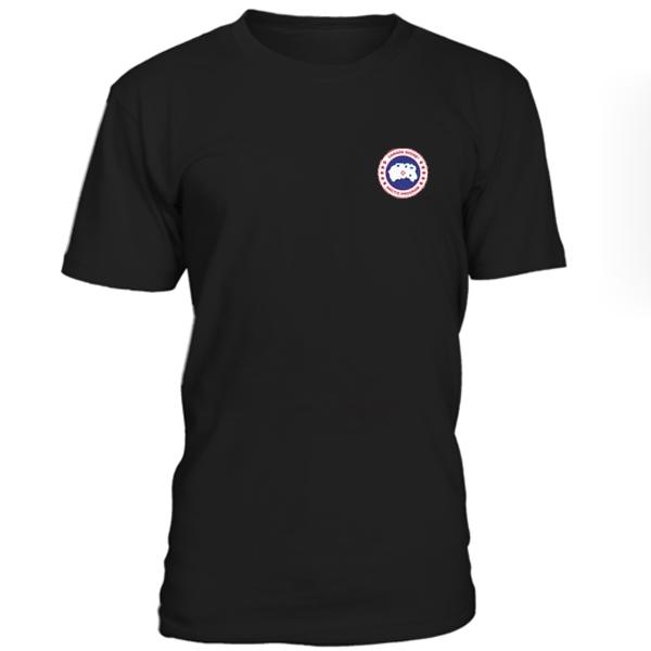 black canada goose t shirt