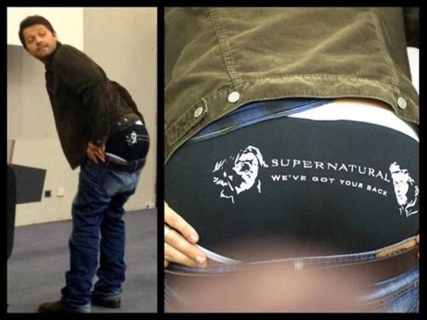 Underwear Supernatural Misha Collins Jared Padalecki