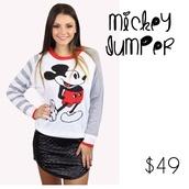 sweater,mickey mouse,jumper,winter sweater,cartoon,knit