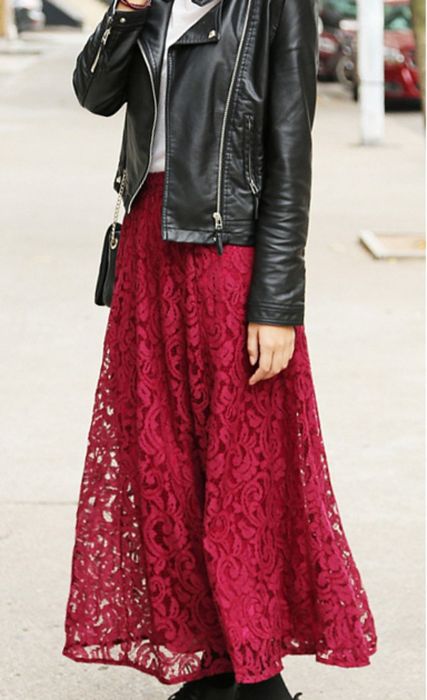 skirt maxi skirt clothes red dress outfit outfit