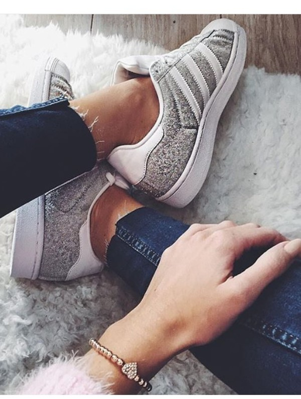 Superstar Adidas Silver Metallic