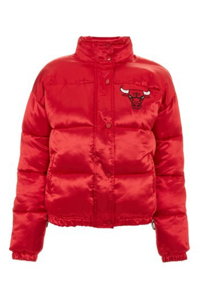 Topshop jacket puffer jacket chicago red