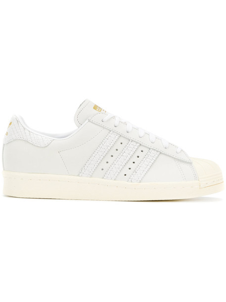 Adidas women sneakers leather white shoes