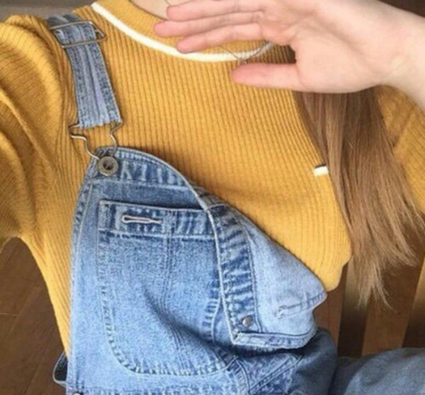 Shirt yellow mustard sweater sweater cool girl style 90u0026#39;s shirt top tumblr outfit ...