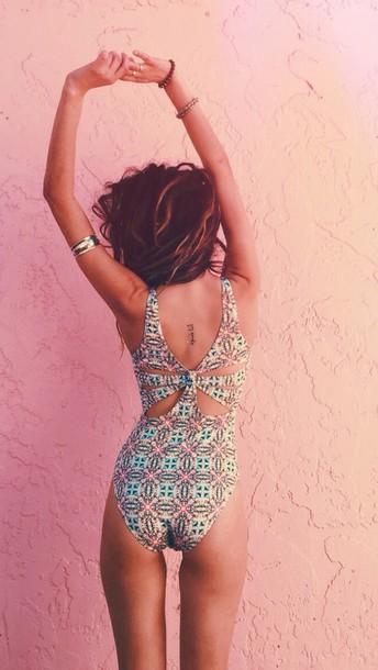 swimwear one piece pattern patterned one piece patterned bathing suit straps one piece swimsuit one piece