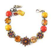 jewels,siggy jewelry,swarovski,bracelets,chunky bracelet,tennis bracelet,yellow,orange,red,bright,colorful,sparkle,ooak,glamour,shopping,beautiful,fashion,style,stylish,cute,chic,embellished,flowers