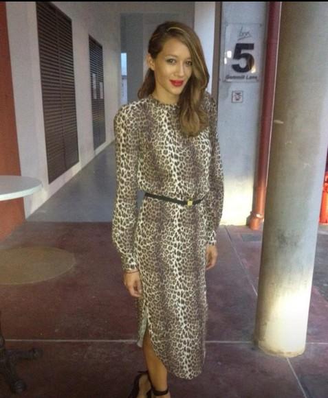 leopard print animal print midi dress