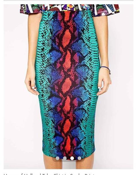skirt snake skin snake skin skirt colorful snake skin