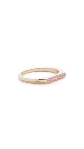 light pink light ring pink jewels