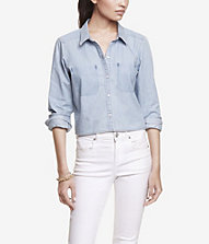 Shop denim shirt | Express