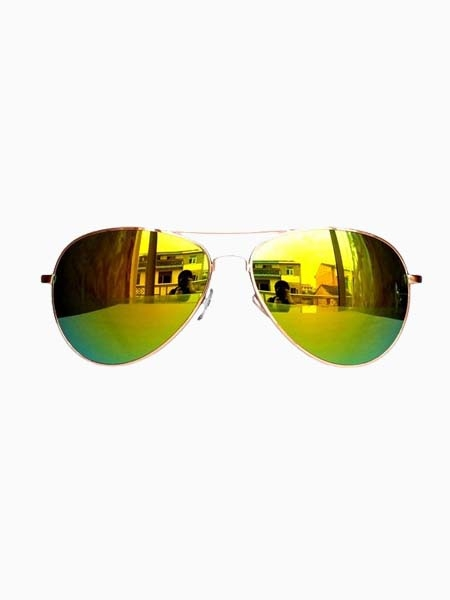Hot Sale Reflector Sunglasses In Golden | Choies