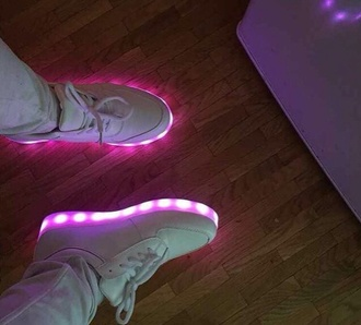 shoes neon light